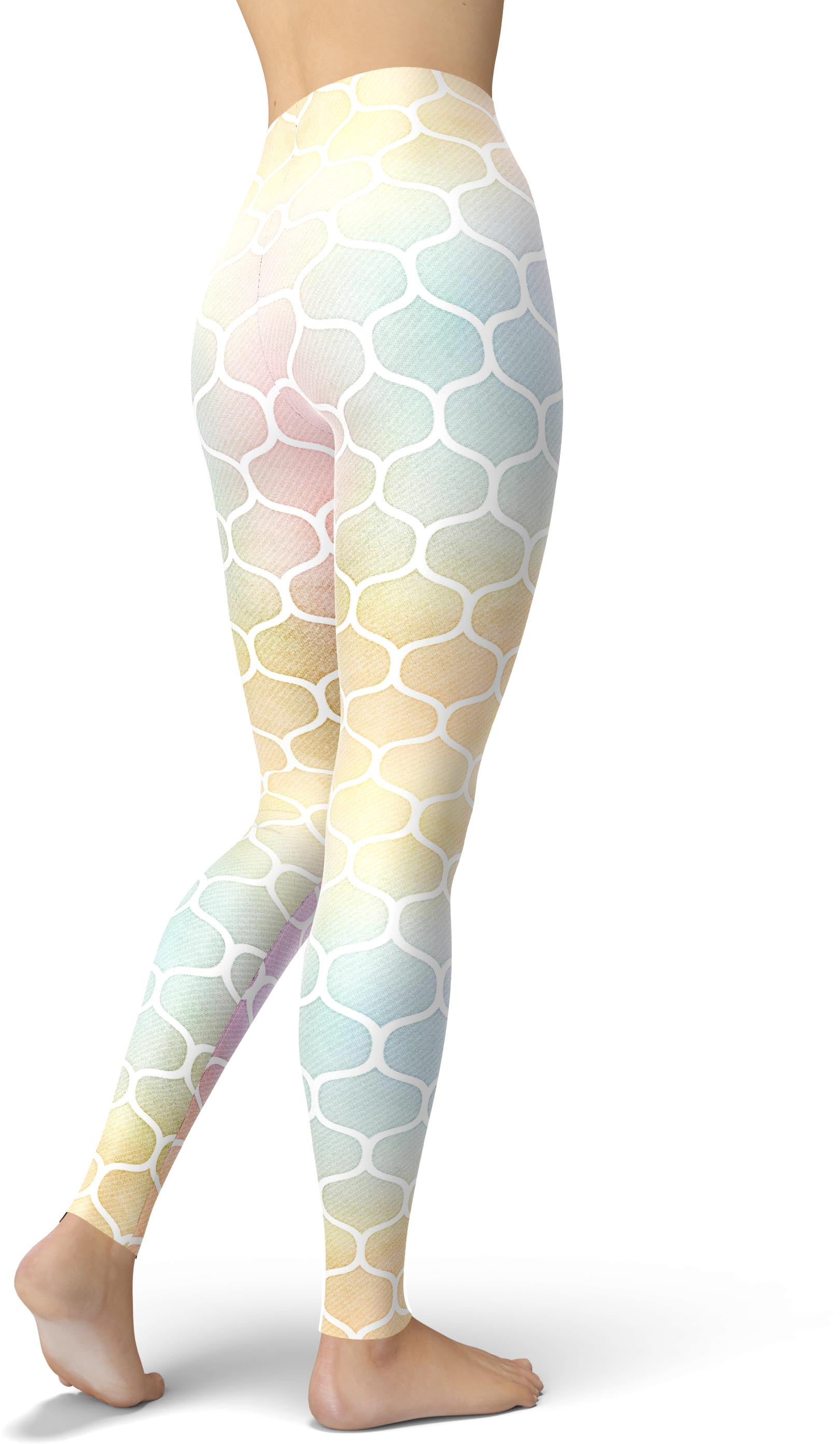 Pastel Honeycomb Leggings
