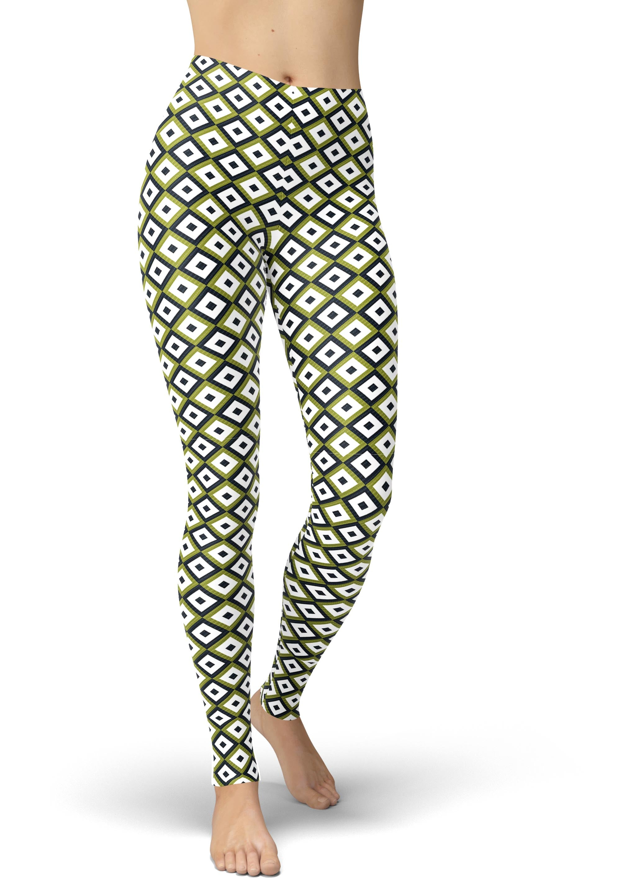Avocado Diamond Print Leggings