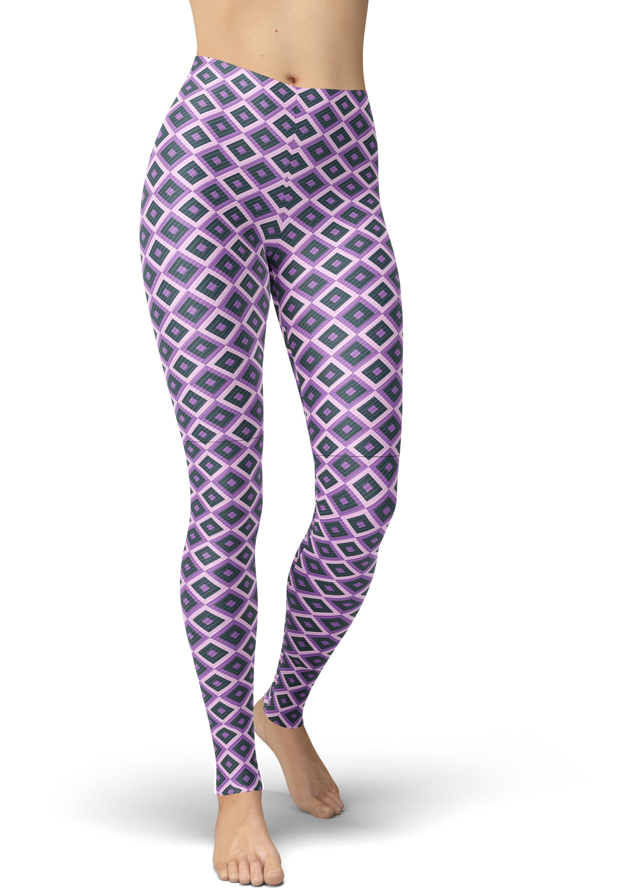 Plum Diamond Leggings
