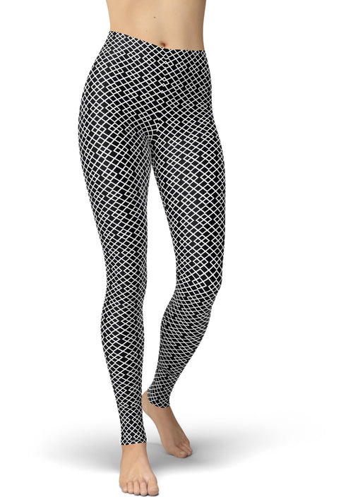 Black & White Lattice Leggings