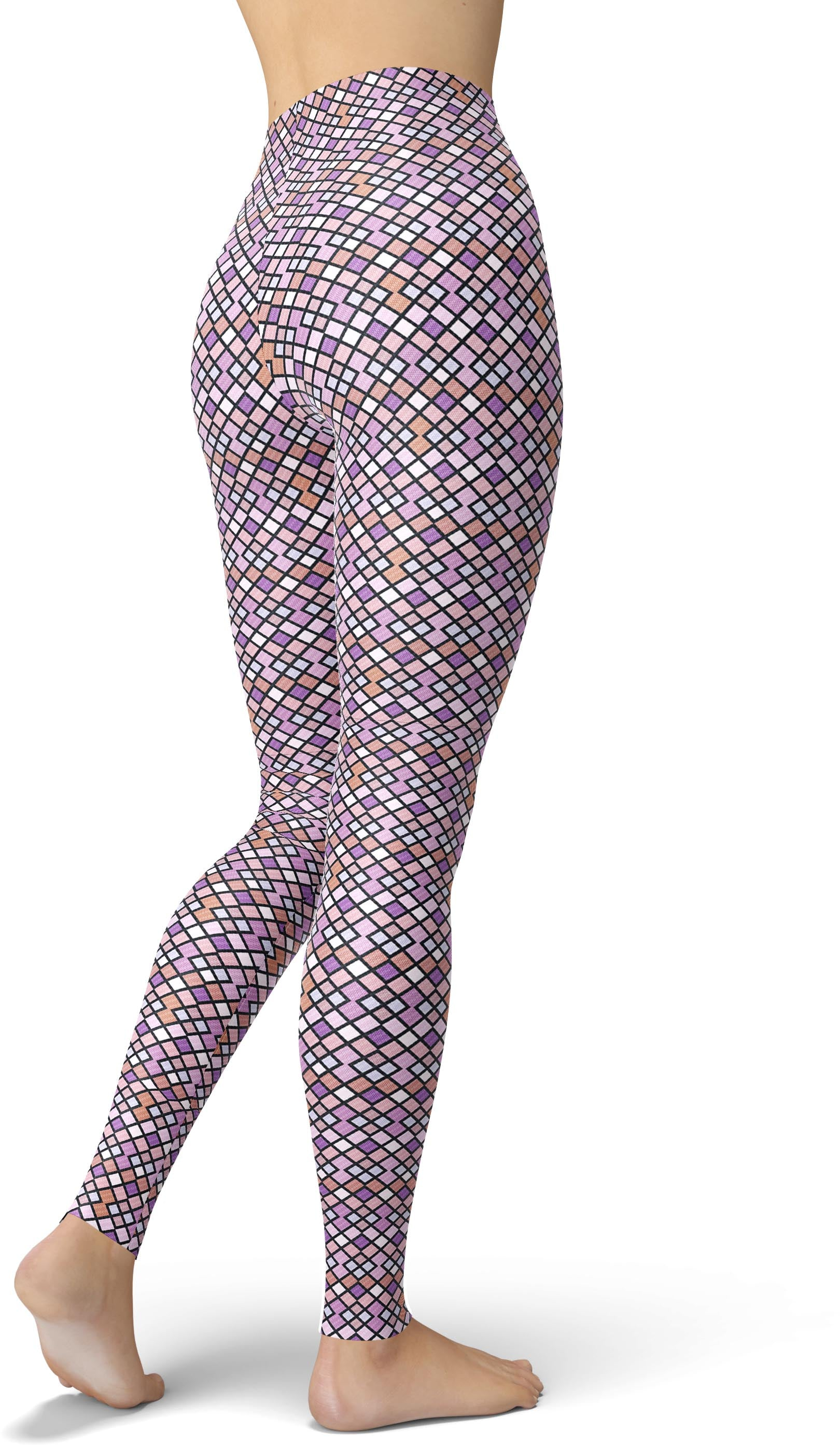 Lavender Diamond Geo Leggings