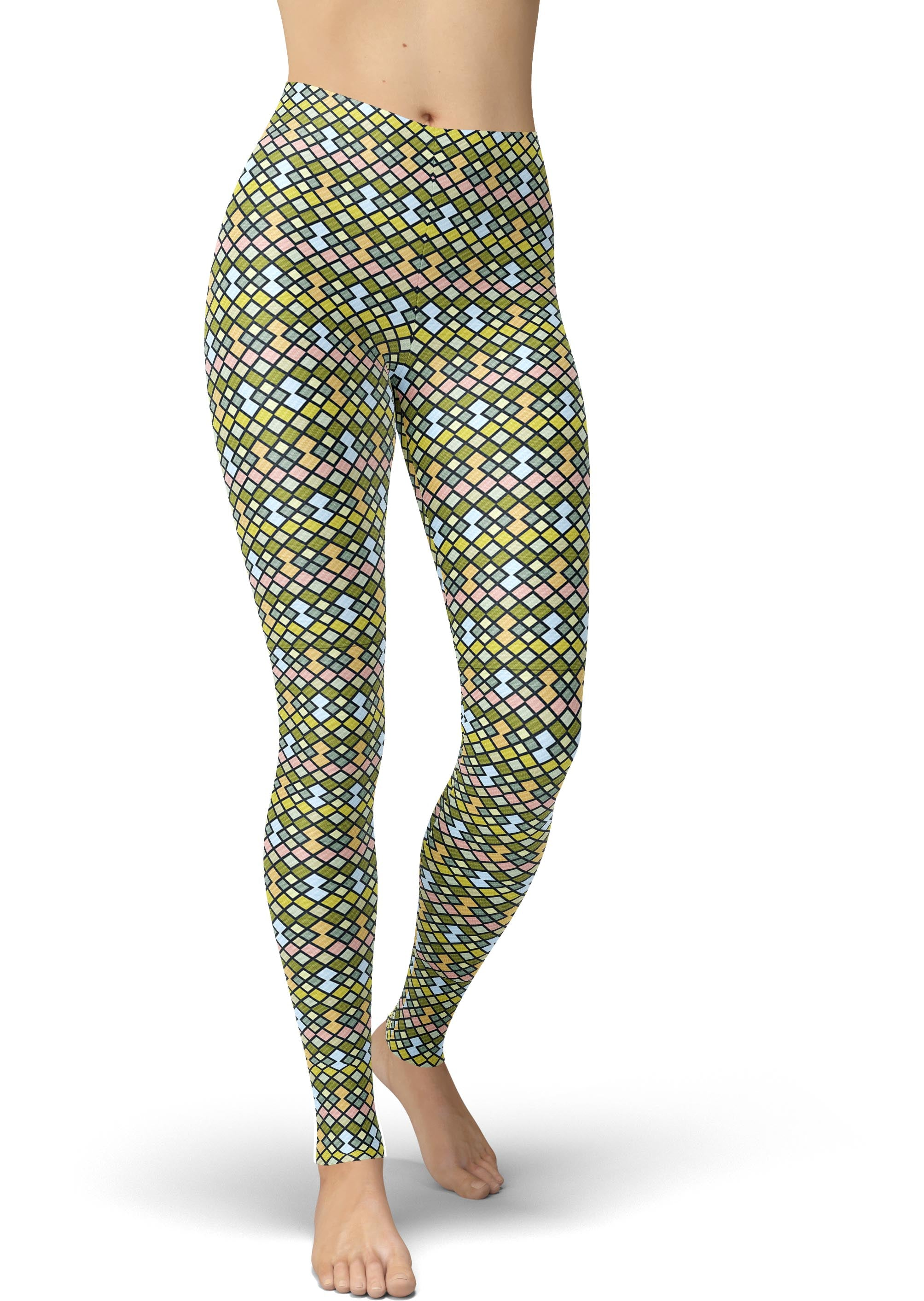 Stained Glass Geo Leggings