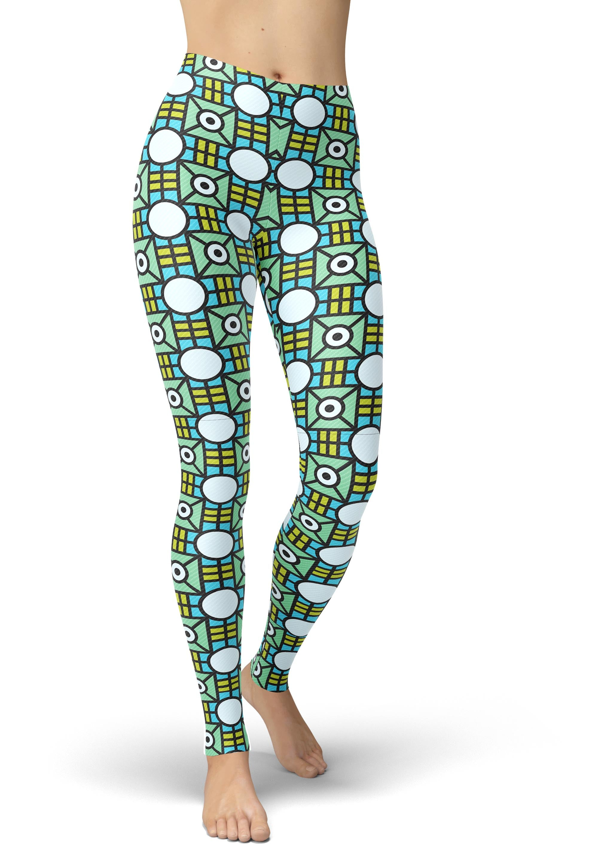 Boxed Geometric Leggings