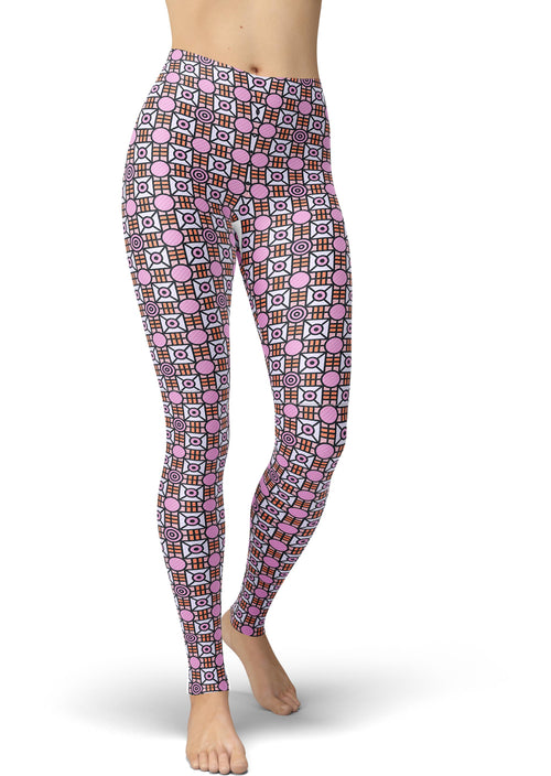 Boxy Purple & Pink Dot Leggings