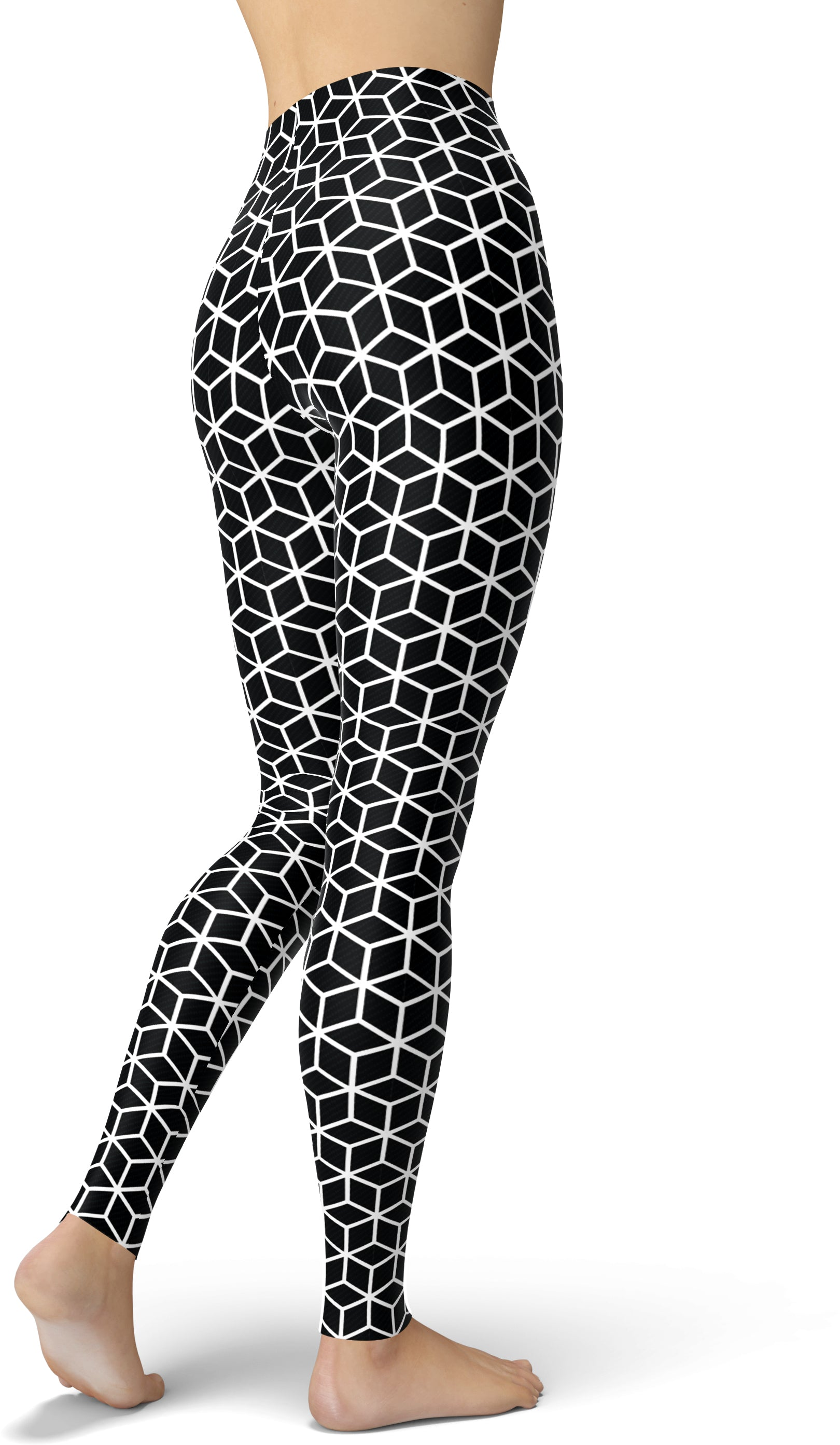 Black & White Hexagons Leggings