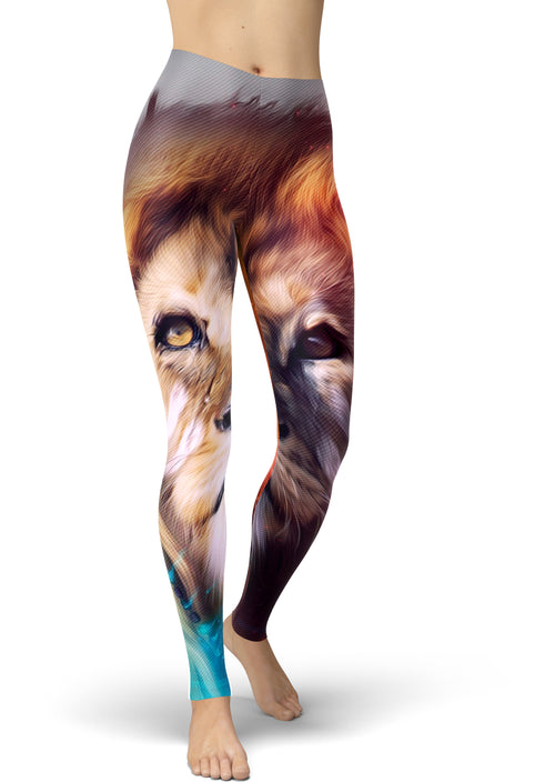 Fiery Lion Leggings
