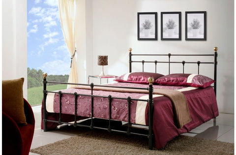 Atlas small double metal bed frame 120cm