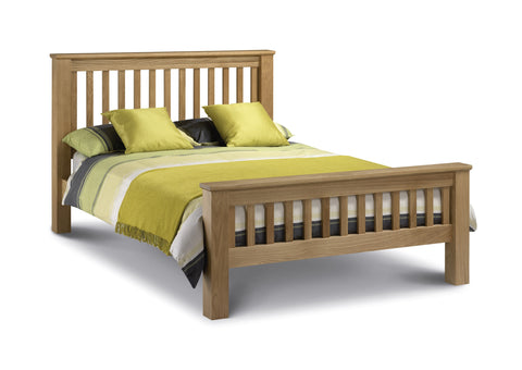 Amsterdam oak king size bed frame 150cm