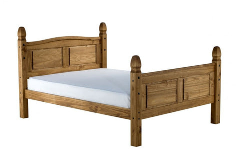 Corona pine small double bed frame