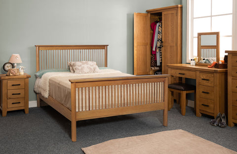 Jacob oak double bed frame