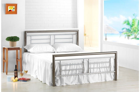 Montana double metal bed frame 135cm