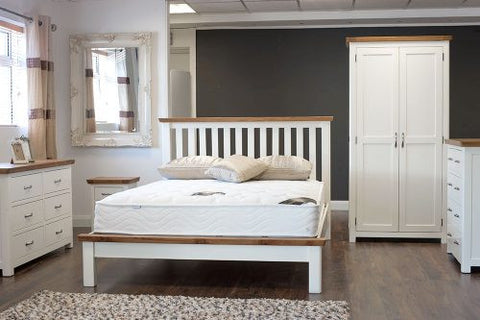 Manhattan White Oak Tops Small Double Bed Frame Corstorphine Bed