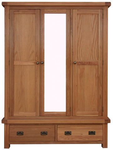 Elder oak 3 door wardrobe