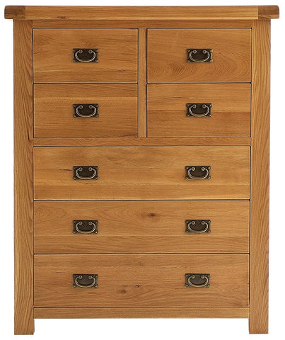 Elder oak 4 over 3 drawer chest