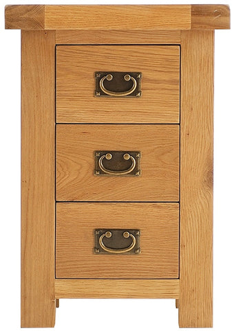 Elder oak 3 drawer bedside