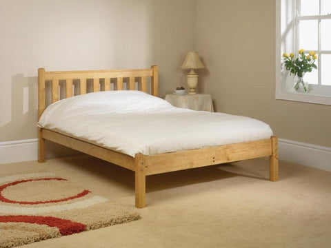 Shaker small double pine bed frame