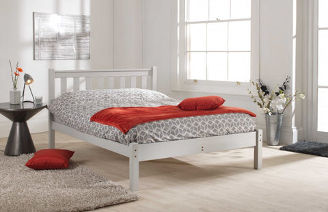 Shaker Grey single pine lfe bed frame
