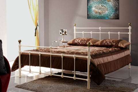 Atlas double metal bed frame 135cm