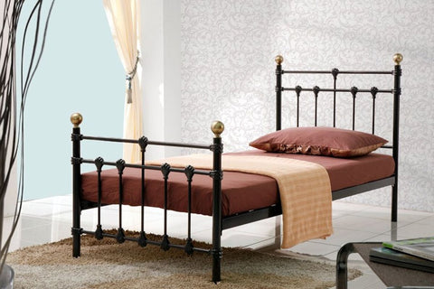 Atlas single metal bed frame 90cm