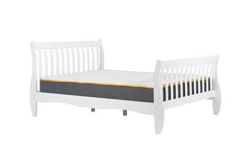 Belford White double bed frame