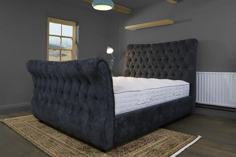 Canterbury fabric double bed frame
