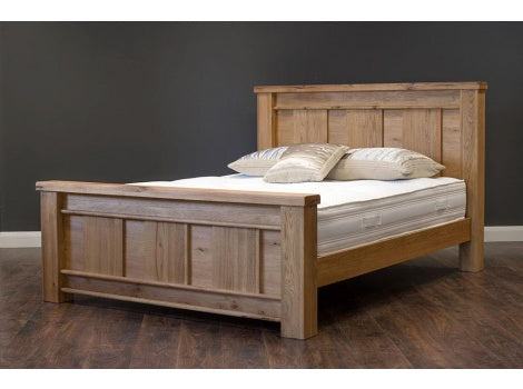 Dimarco oak king size bed frame