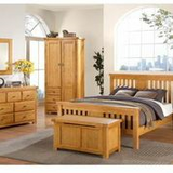 Graceland honey oak double bed frame 135cm