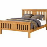Graceland honey oak king size bed frame 150cm