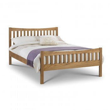 Bergamo Oak double bed frame