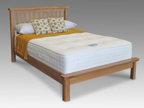 Manhattan oak double bed frame
