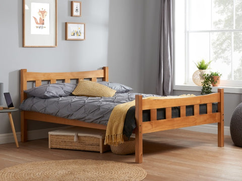 Miami double pine bed frame