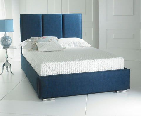 Milan fabric double bed frame 135cm