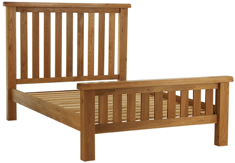 Elder oak double bed frame 135cm