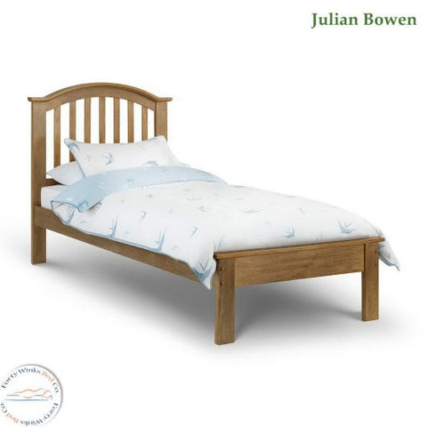 Olivia oak finish single bed frame
