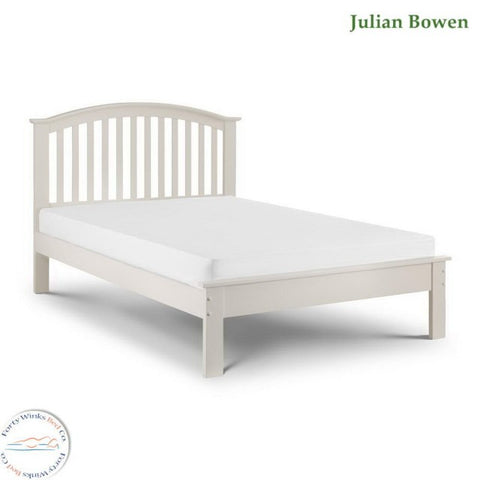 Olivia stone White single bed frame