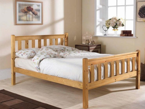 Shaker king size pine hfe bed frame