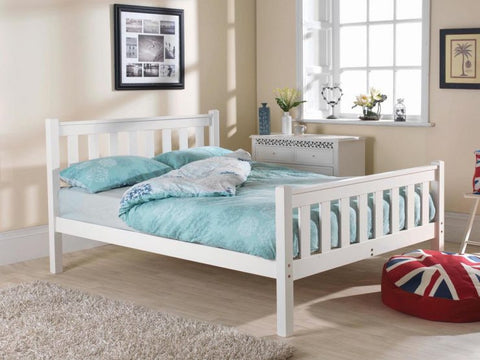 Shaker double White pine hfe bed frame
