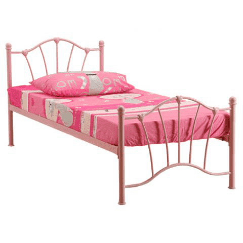 Sophia single metal bed frame 90cm
