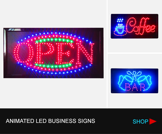 led signs, open sign