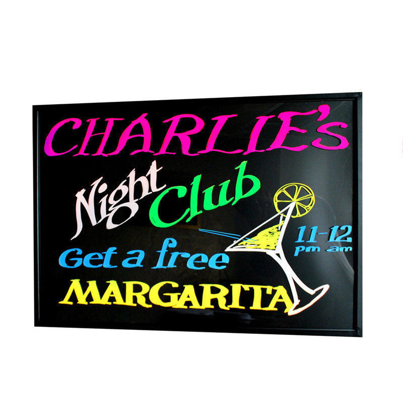 FLUORESCENT ACRYLIC LED WRITING BOARD SIGN  27x19 - DSD Brands