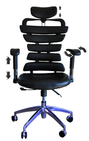 Constructor Studio Soho Ergonomic Black Chair With Adjustable Arms