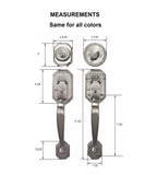 Constructor CERBERUS Entry Handle Set with Single Cylinder Deadbolt Door Lock Keyed Alike Oil Rubbed Bronze Finish