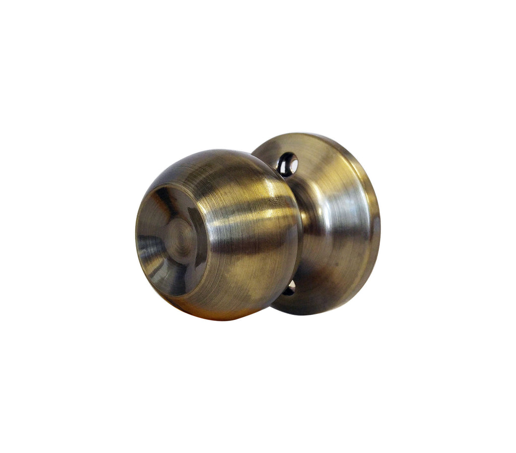 CHRONOS Decorative Dummy Knob Door Handle for Hallway or Closet Antique Bronze Finish