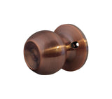 CHRONOS Decorative Dummy Knob Door Handle for Hallway or Closet Antique Copper Finish