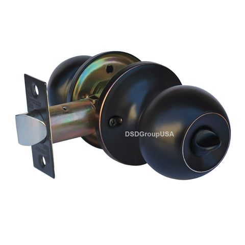 """Chronos"" Privacy Oil Rubbed Bronze Finish, Door Lever Lock Set Knob Handle Set - DSD Brands"