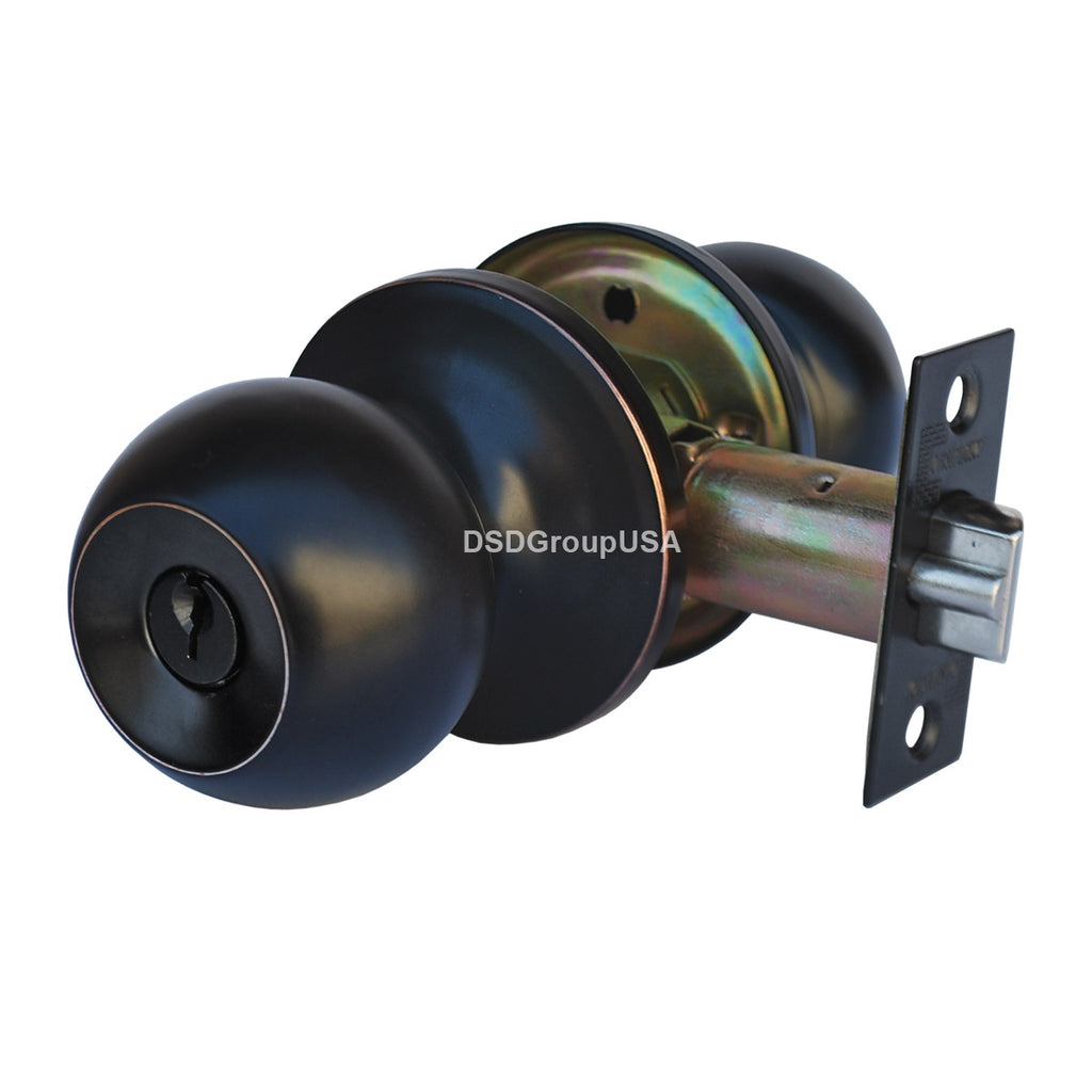 """Chronos"" KEYED ALIKE, Entry Oil Rubbed Bronze Finish, Door Lever Lock Set Knob Handle Set - DSD Brands"