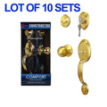 Wholesale Door Lock Sets Handle Knob Entry Passage Privacy Polished Brass Locks - DSD Brands