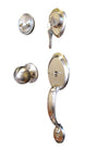 """Comfort"" Entry Lock Set with Door Lever Handle, Satin Nickel Finish - DSD Brands"