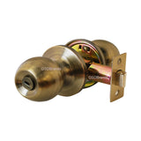 """Chronos"" Privacy Antique Bronze Finish, Door Lever Lock Set Knob Handle Set - DSD Brands"