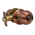 """Chronos"" Privacy Antique Copper Finish, Door Lever Lock Set Knob Handle Set - DSD Brands"